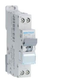 HAGER Disjoncteur Phase / Neutre 6-10kA Courbe C-40A 1 Module NFT740 HAGER NFT740