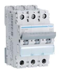 HAGER Disjoncteur 3 Pôles 6-10kA Courbe C 50A 3 Modules NFN350 HAGER NFN350