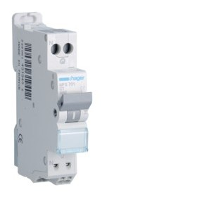 HAGER Disjoncteur Phase / Neutre 3kA C1A SanVis 1 Module MFS701