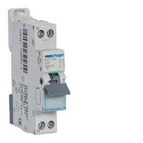 HAGER Disjoncteur Phase / Neutre 4.5-6kA Courbe C-40A 1 Module MJT740 HAGER MJT740