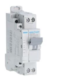 HAGER Disjoncteur fil pilote Phase / Neutre 3kA C25A 1.5 Modules MFN925