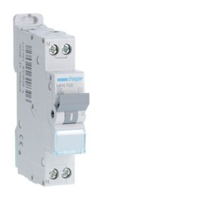 HAGER Disjoncteur Phase / Neutre 3kA C2A 1 Module MFN702
