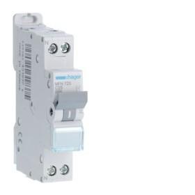 HAGER Disjoncteur Phase / Neutre 3kA C25A 1 Module MFN725