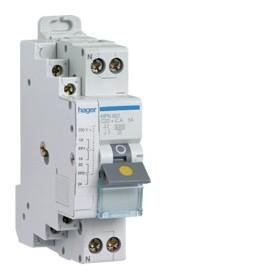 HAGER Disjoncteur fil pilote Phase / Neutre 3kA C20A 1.5 Modules MFN920