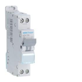 HAGER Disjoncteur Phase / Neutre 3kA C6A 1 Module MFN706
