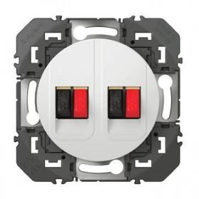 LEGRAND Prise haut parleur double blanc dooxie legrand 600382 600382