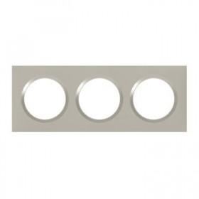 LEGRAND Plaque 3 postes plumineuxe dooxie legrand 600823 600823