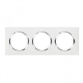 LEGRAND Plaque 3 postes blanc chrome dooxie legrand 600843 600843
