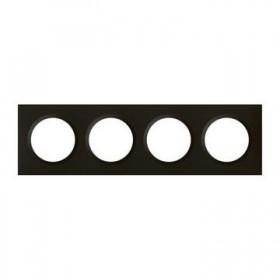 LEGRAND Plaque 4 postes noir velour dooxie legrand 600864 600864