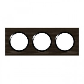 LEGRAND Plaque 3 postes style bois ebene dooxie legrand 600883 600883