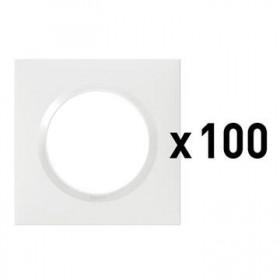 LEGRAND Plaque 1 poste blanc x100 dooxie legrand 600941 600941