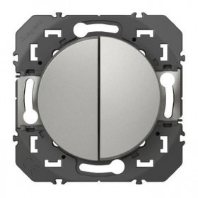 LEGRAND Double poussoir aluminiun dooxie legrand 600108 600108