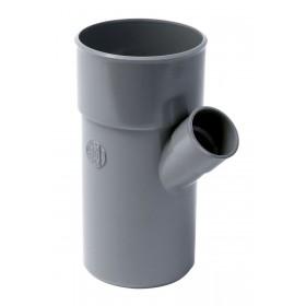 NICOLL Embranchement simple mâle-femelle 45° PVC pour tube d'évacuation gris - diamètre 200/100 mm NICOLL BB64