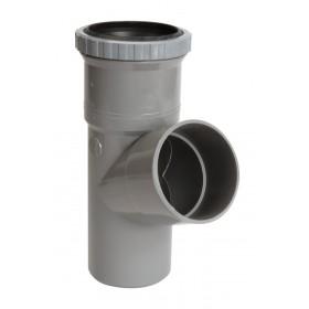 NICOLL Culotte simple à joint de dilatation PVC MF 67°30 gris - diamètre 100 mm NICOLL BMT16
