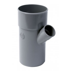 NICOLL Embranchement simple mâle-femelle 45° PVC pour tube d'évacuation gris - diamètre 110/100 mm NICOLL BV24