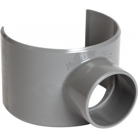 NICOLL Selle de branchement MF 90° PVC gris - diamètre 110/40 mm NICOLL SL114