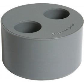NICOLL Tampon de réduction MF double PVC gris - diamètre 110/50/40 mm NICOLL V54