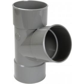 NICOLL Culotte simple Femelle femelle 67°30 PVC gris - diamètre 110 mm NICOLL BV166