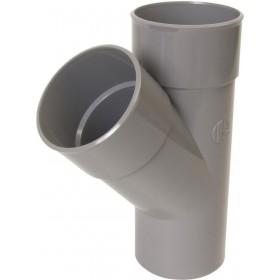 NICOLL Culotte simple 45° MF PVC pour tube d'évacuation gris - diamètre 110 mm NICOLL BV14