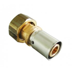 OVENTROP Raccord à sertir brut diamètre 20x2,5mm avec écrou 20x27 1512145 1512145
