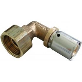 OVENTROP Coude à sertir avec écrou diamètre 20 x 2,5 - 20 x 27 femelle réf. 1512755 1512755