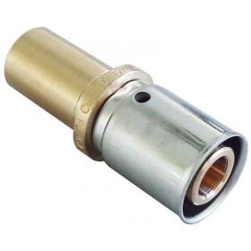 OVENTROP Accouplement de liaison à sertir sur cuivre diamètre 16x2mmx12mm Réf. 1514042 1514042