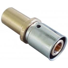 OVENTROP Accouplement de liaison à sertir sur cuivre diamètre 20x2,5mmx18mm Réf. 1514045 1514045