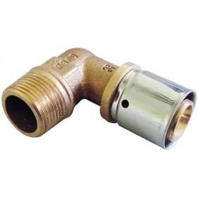 OVENTROP Coude à sertir mâle 26x34-26x3,0mm Réf. 1512357 1512357