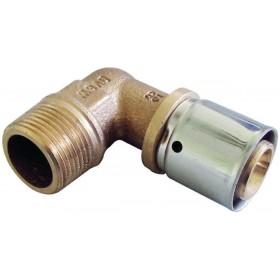 OVENTROP Coude à sertir 16x2mm avec raccord mâle 12x17 1512344 1512344