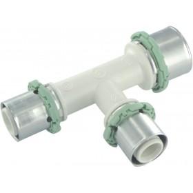 COMAP Raccords à sertir PPSU multicouche Té réduit D 20-16-16 mm 1 pièce Réf. P130RL201616 P130RL201616