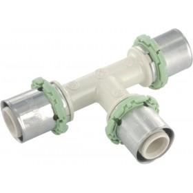 COMAP Raccords à sertir PPSU multicouche Té égal D 32 mm 1 pièce Réf. P130L32 P130L32