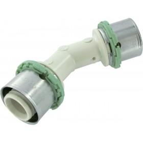COMAP Raccords à sertir PPSU multicouche 45° coude D 26 mm 1 pièce Réf. P041L26 P041L26