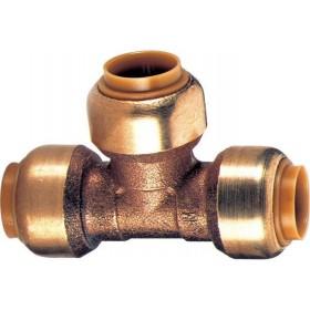 COMAP Té réduit TG130R instantané tectite D22-16-22 pour tubes cuivre, PER ou PB réf T130221622 T130221622