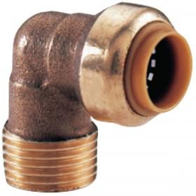 COMAP Coude 90° T092G instantané tectite mâle-femelle D12-15x21 pour tube cuivre PER et PB réf T092G1212 T092G1212