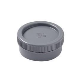 NICOLL Tampon de visite MF avec bouchon - FR - PVC gris - diamètre 80 mm NICOLL FR